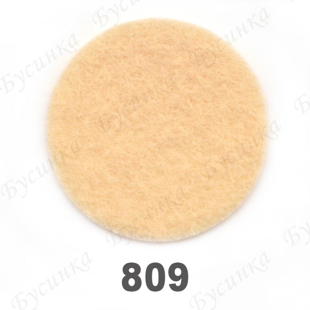 Фетр листовой жесткий 1,2 мм. 22х30 см. Корея Цвет-809 Персиковый