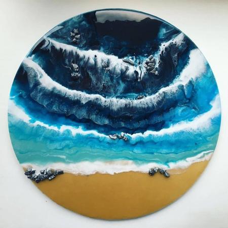 """Набор для рисования эпоксидной смолой в технике """"Resin Art"""" MixArt Resin Box Морской берег"""
