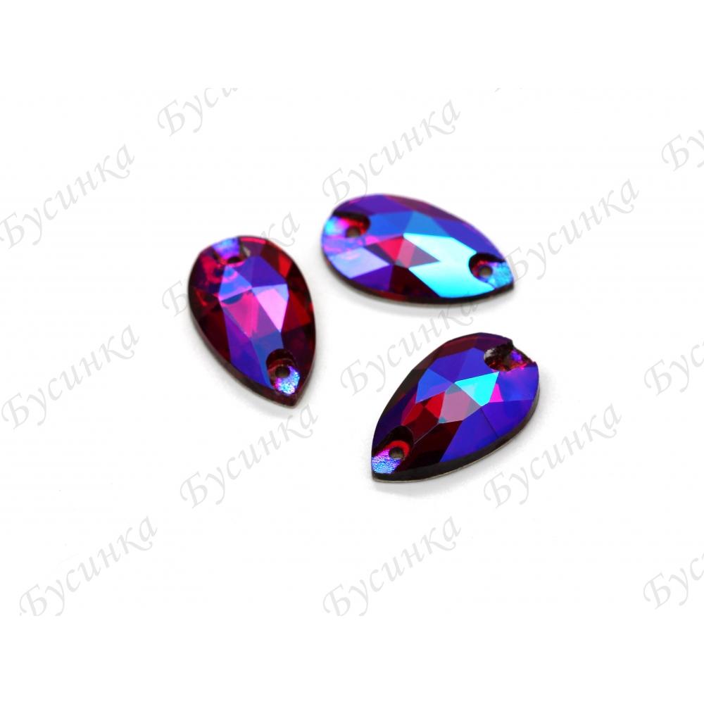 """Капля """"Volcano Purple"""" 11*18 мм SWA crystalls"""
