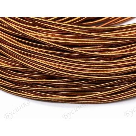 Канитель гладкая Медь светлая 1 мм. (00053)