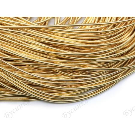 Канитель гладкая Золото светлое 1 мм. (00055)