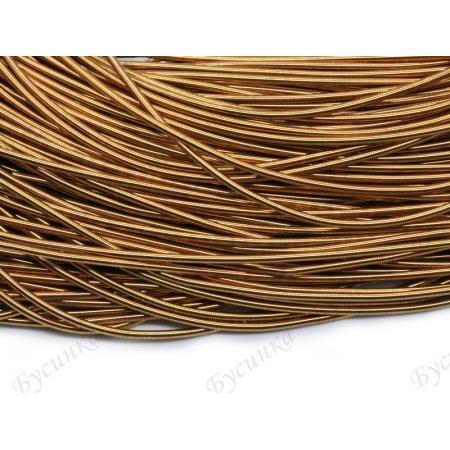 Канитель гладкая Латунь золотая 1 мм. (00092)