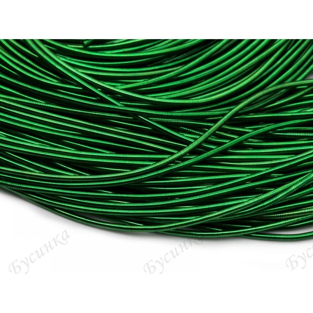 Канитель гладкая Зелёный-темный 1 мм. (00048)