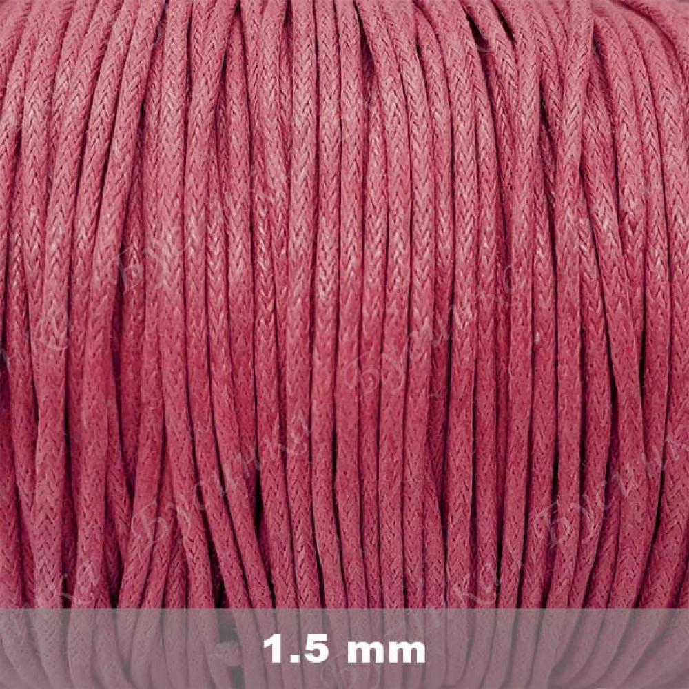 Шнур вощеный хлопок 1.5мм, Античный-Розовый