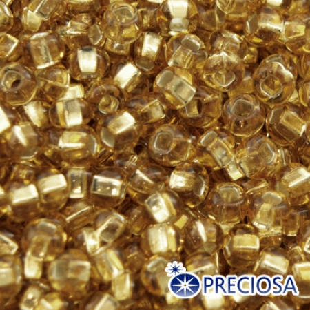 Бисер Preciosa 10/0 цв. 17020, уп 5г, Золотой