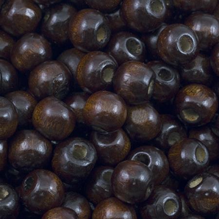 Бусины дерево круглые (W02) 10мм Коричневый