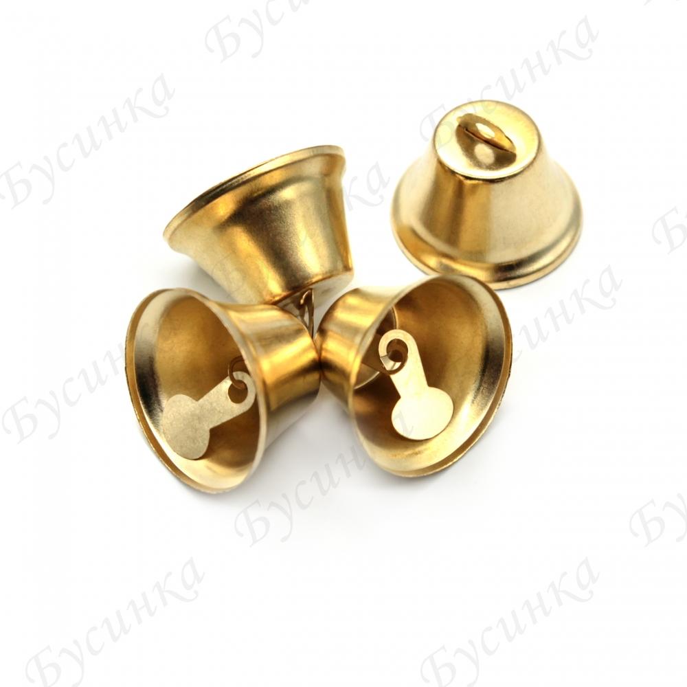 Колокольчики металлические 33х35 мм., Золотой
