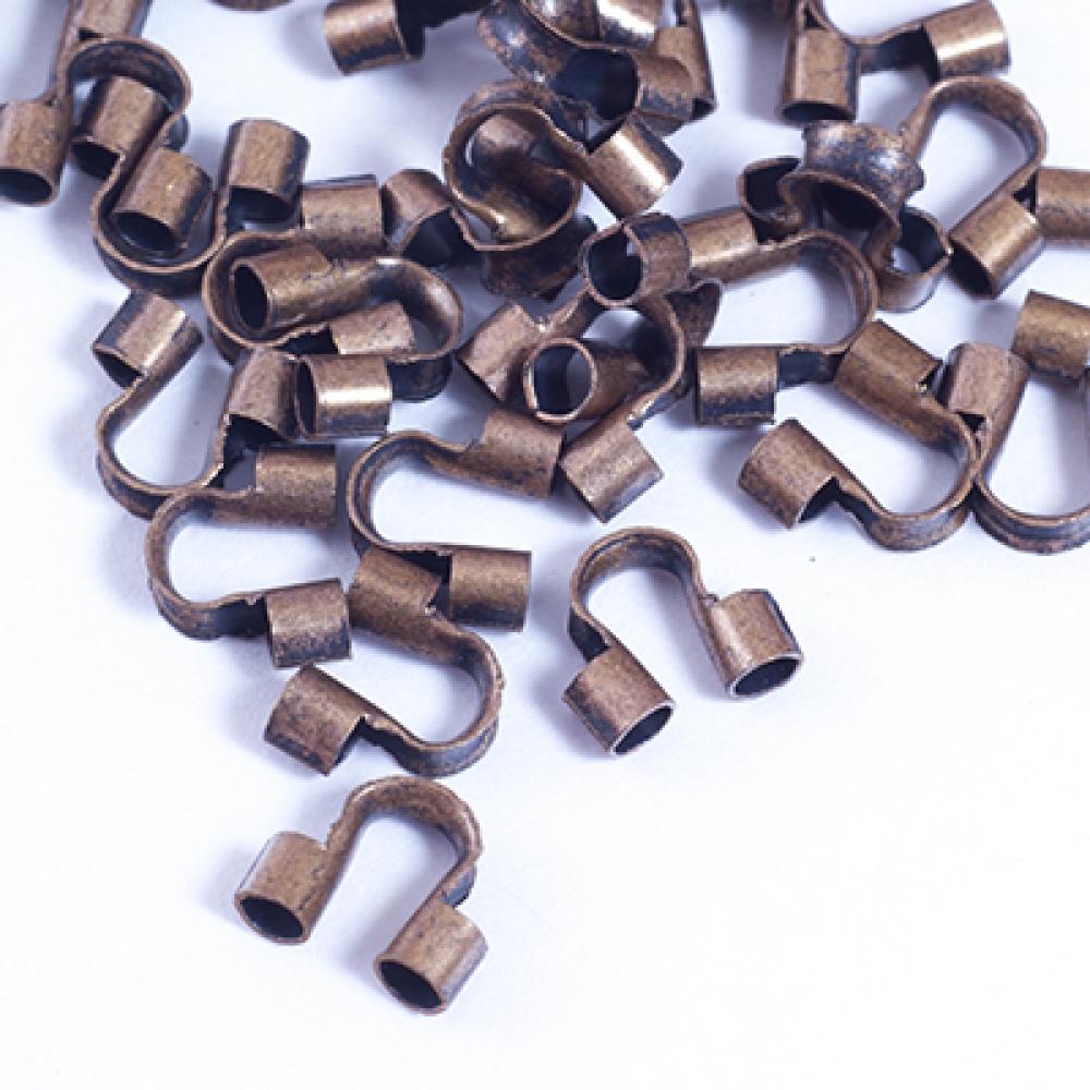 Зажимы протектор для проволоки Латунь 5х6х2мм Медь