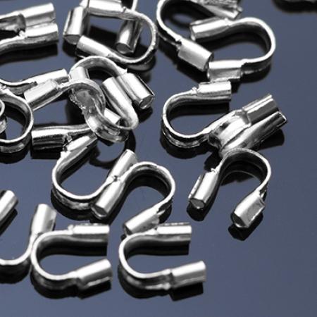 Зажимы протектор для проволоки Латунь 5х4х1мм Платина