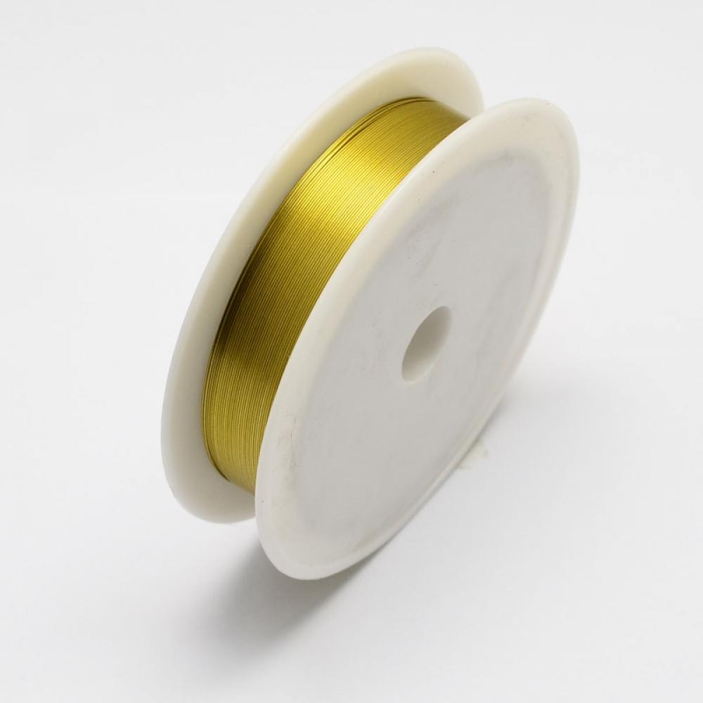 Железная Проволока 0.3мм/20м Золото