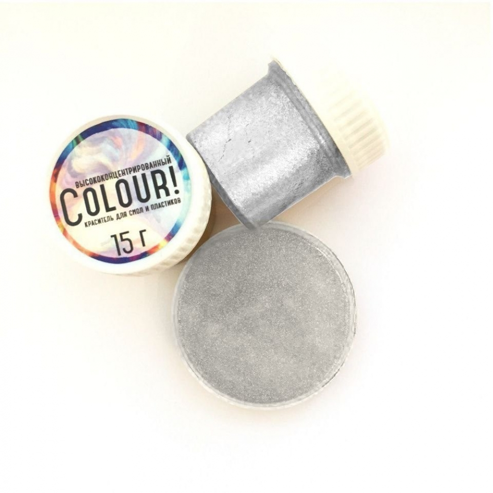 Краситель EpoximaxX Colour для эпоксидной смолы, Цвет: Серебро