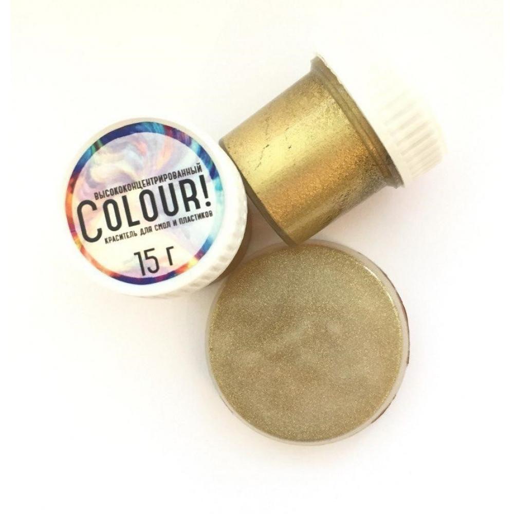 Краситель EpoximaxX Colour для эпоксидной смолы, 15гр., Цвет: Золото