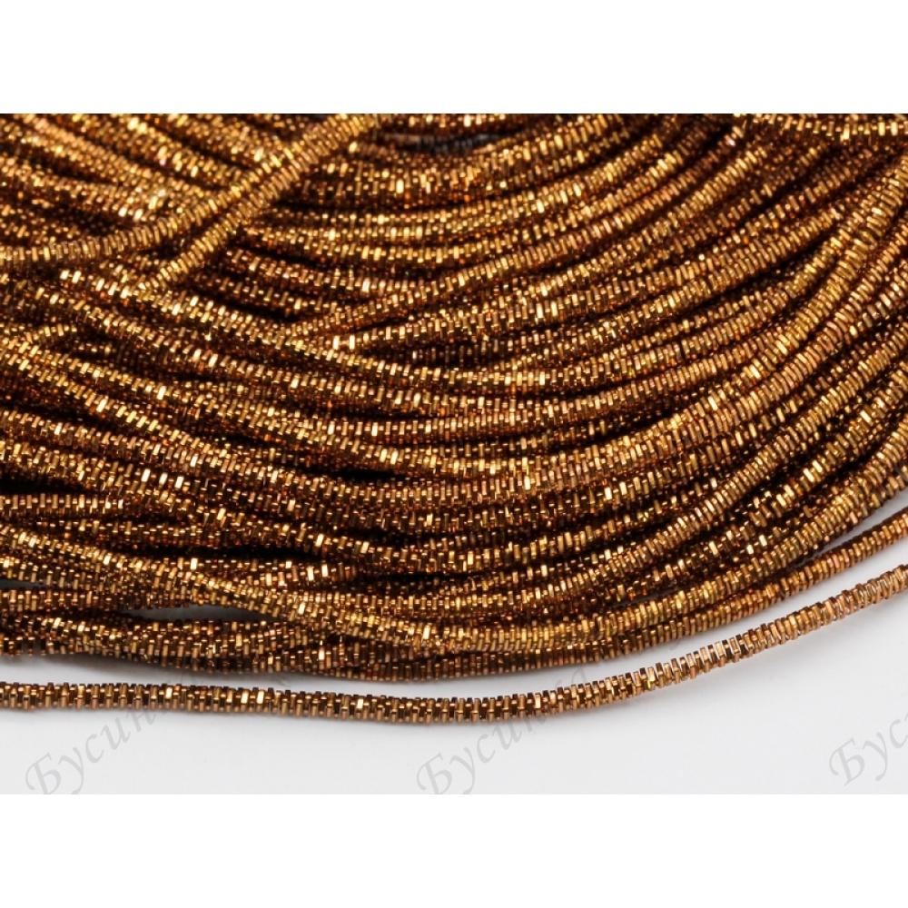 Трунцал квадратный Коричнево-золотой 1,5 мм., 3гр.