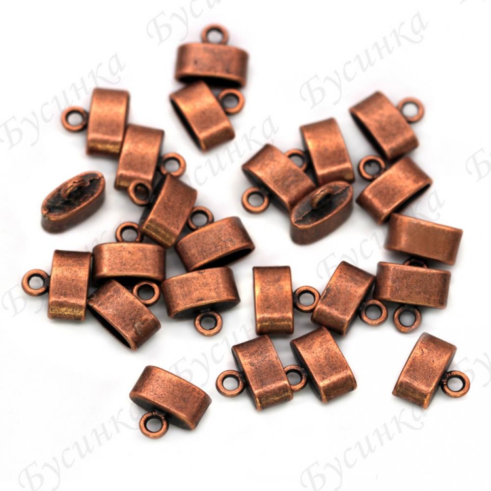 Концевики колпачки под вклейку,11х10х5мм, Цвет: Медь