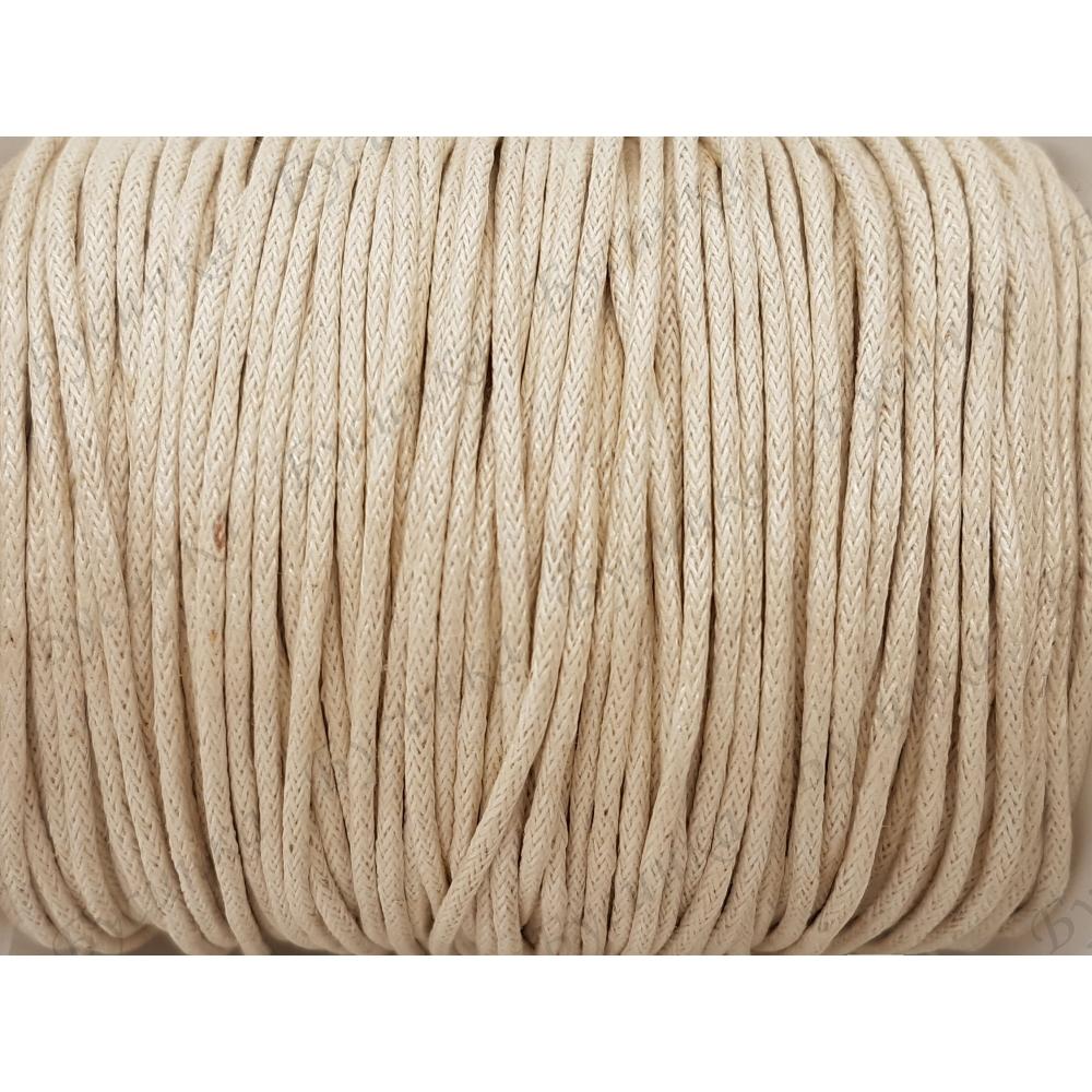 Шнур вощеный хлопок 1.5мм, Античный Белый