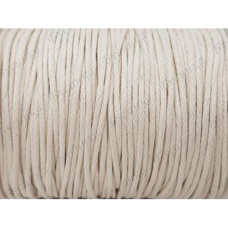 Шнур вощеный хлопок 1.5мм, Белый