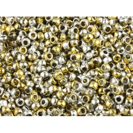 COTOBE Beads Ancent Gold and Silver (J095) 8/0