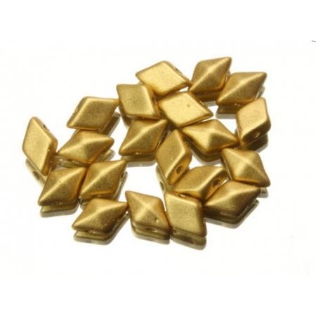 DiamonDuo бусины 2 отверстия золото матовые 5x8мм,  (DD026)