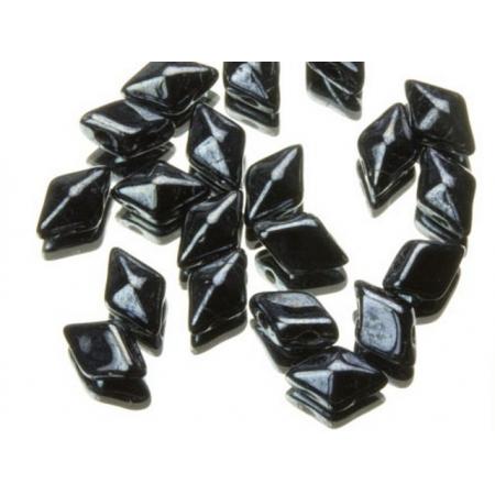 DiamonDuo бусины 2 отверстия гематит 5x8мм, (DD001)