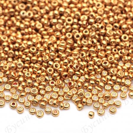 Бисер Китай 10/0 Золотой металлик