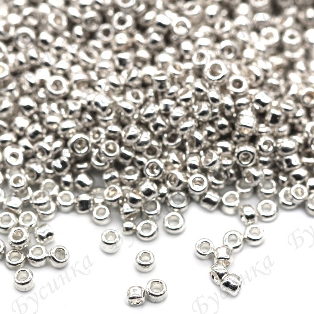 Бисер Китай 10/0 Серебро металлик