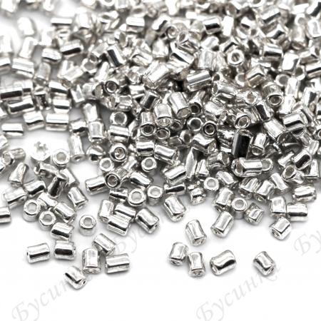 Бисер Китай рубка 9/0 Серебро металлик