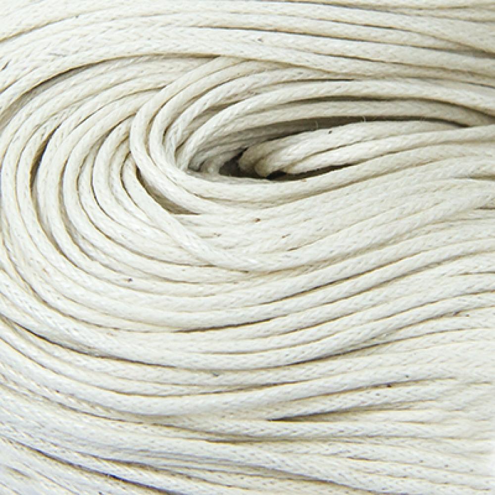 Шнур вощеный хлопок 0.7мм, Античный Белый