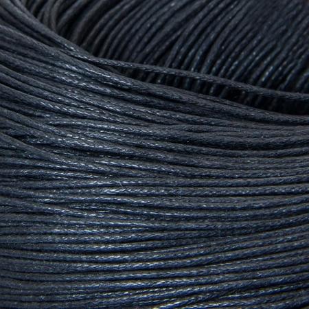 Шнур вощеный хлопок 0.7мм, Черный