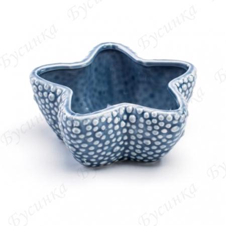 Вазон для цветов и декора Морская звезда 10х5,5см., Керамика, глазурь