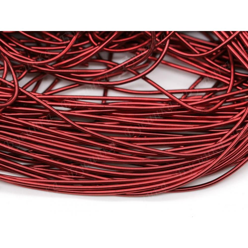 Канитель гладкая Тёмно-Красный 1 мм.