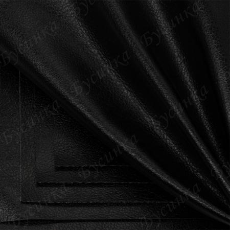 Экокожа Перламутр 10х10см. Черный