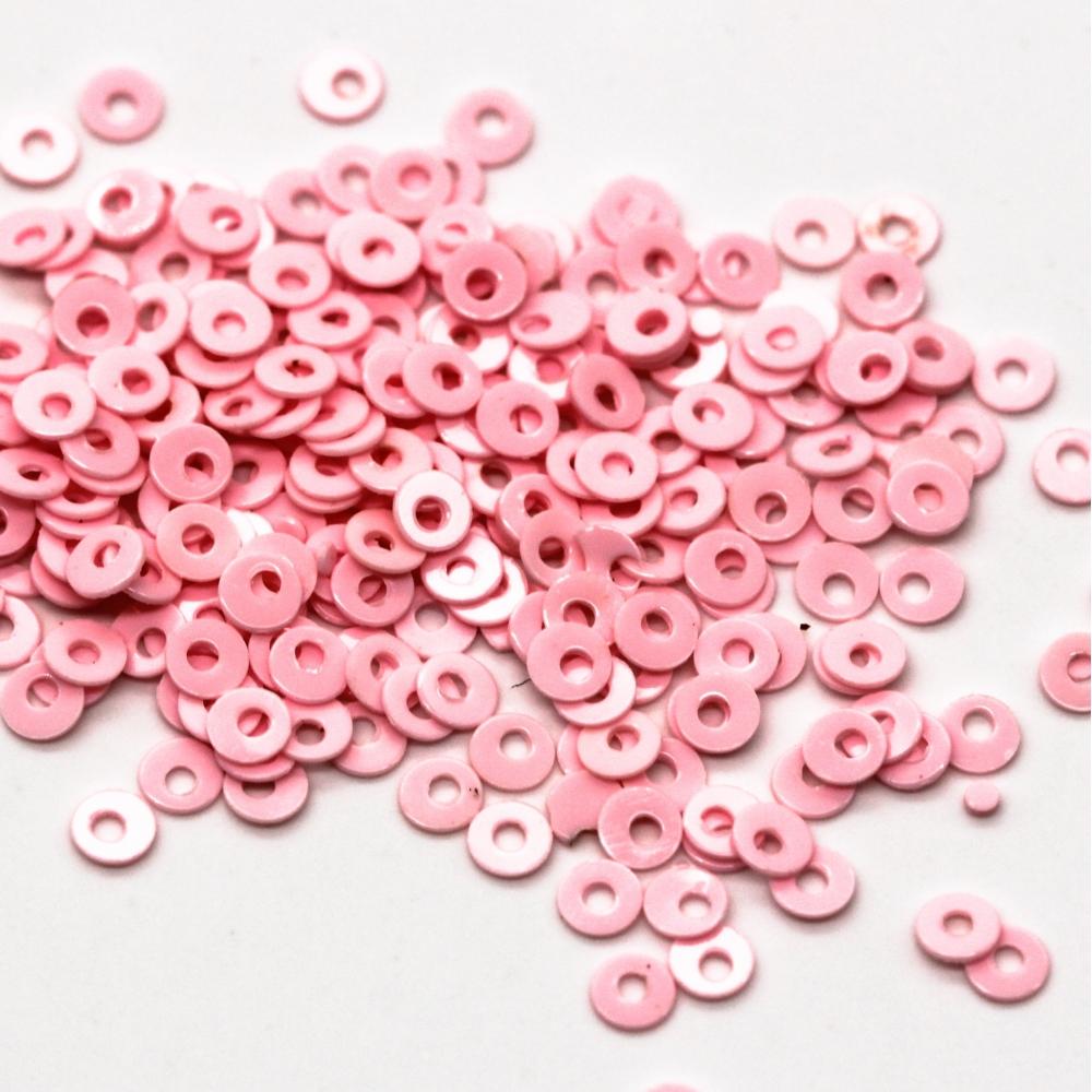 Пайетки 2 мм. Цвет: Розовый матовый, 2,5 гр.