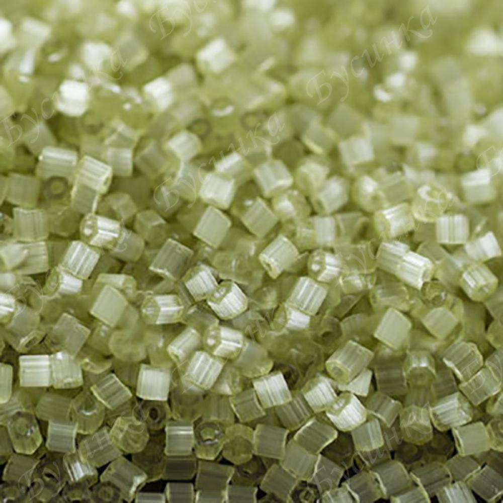 Бисер чешский Preciosa рубка сатин 9/0 05252 Салатовый, 5г.