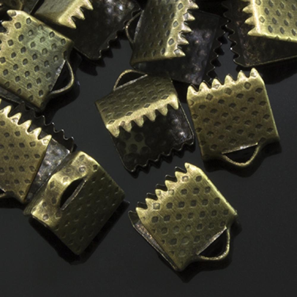 Концевики Зажимы для Лент 8х6х5мм, Бронза