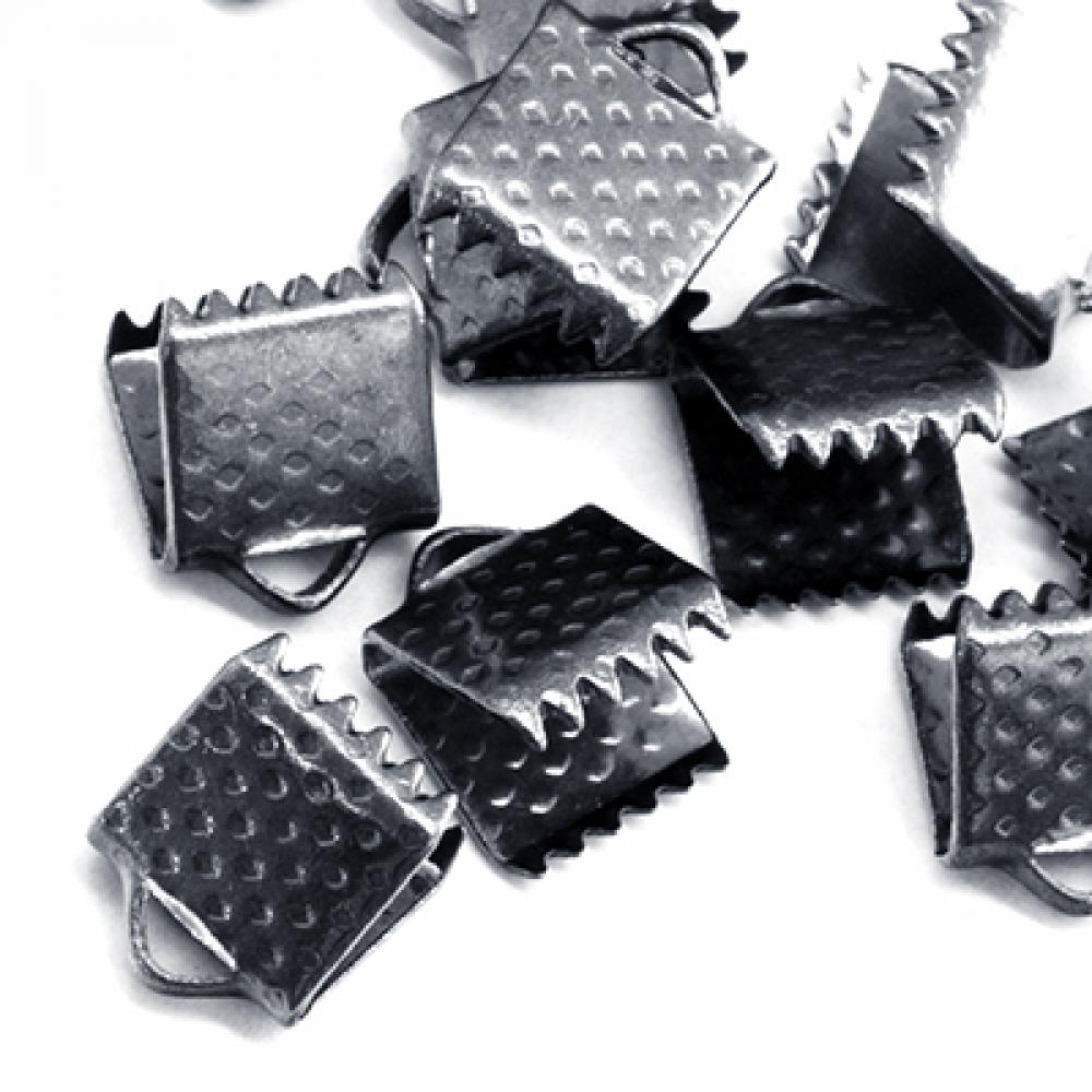 Концевики Зажимы для Лент 8х6х5мм, Черный