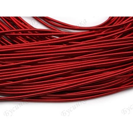 Канитель гладкая Красный 1 мм. (00050)