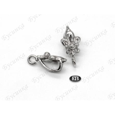Бейл Королевская лилия Серебро 925 16х8мм, Серебро