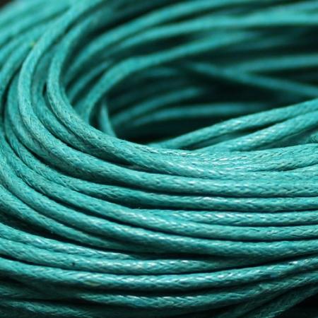 Шнур вощеный хлопок 1.5мм, Бирюзовый