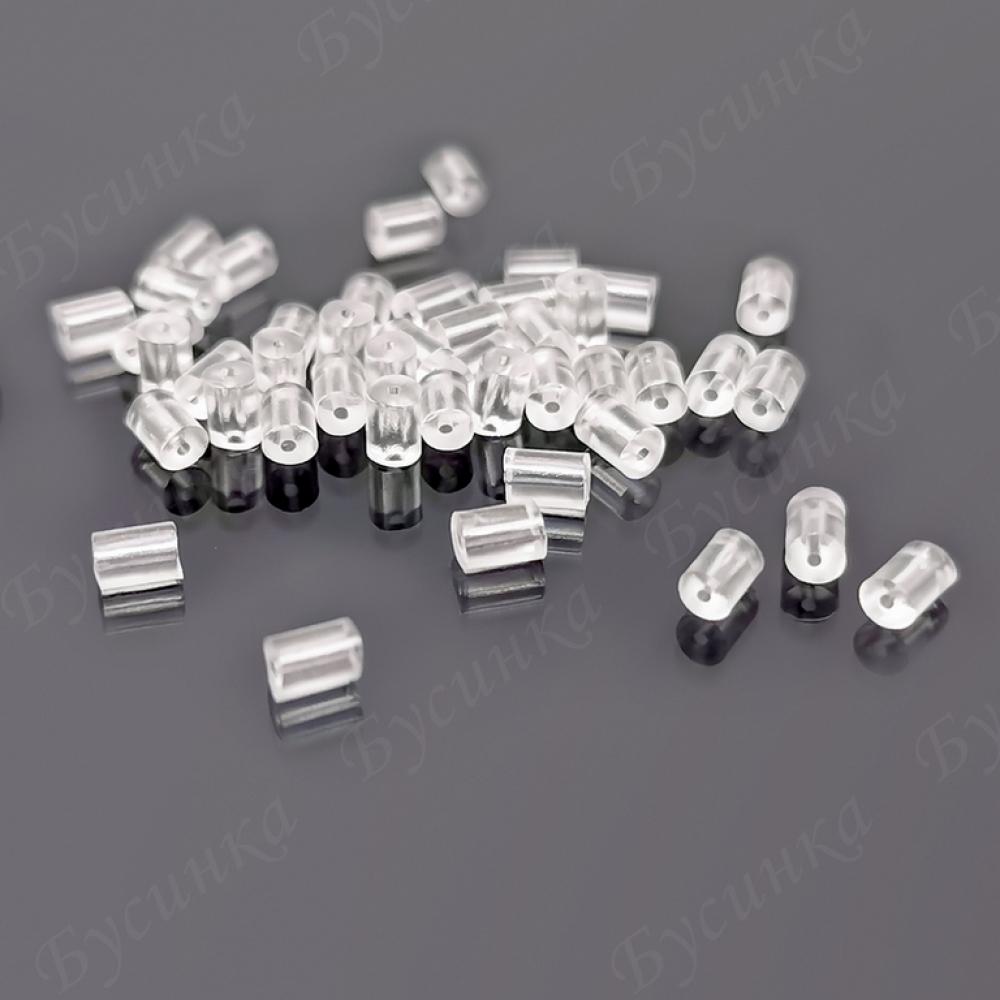 Заглушки силикон цилиндр 2,5х4мм, Полупрозрачные уп.10шт.