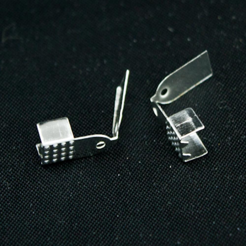 Концевики-зажимы для шнура 10х5х4мм, Платина