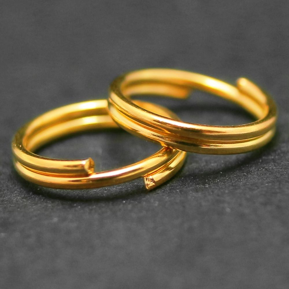 Колечки двойные 5мм, Золото около 11 шт. в
