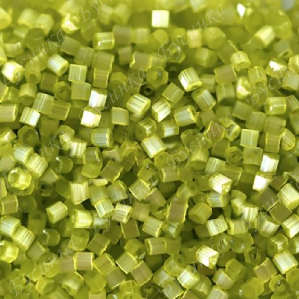 Бисер чешский Preciosa рубка сатин 9/0 05153 Салатовый, 5г.