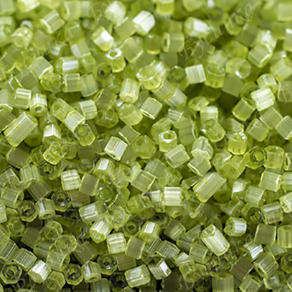 Бисер чешский Preciosa рубка сатин 9/0 05154 Светло-зеленый, 5г.