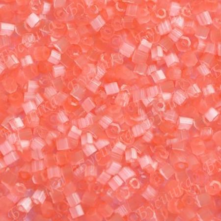 Бисер чешский Preciosa рубка сатин 9/0 05191 Розовый, 5г.