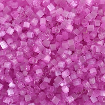 Бисер чешский Preciosa рубка сатин 9/0 05192 Розовый, 5г.
