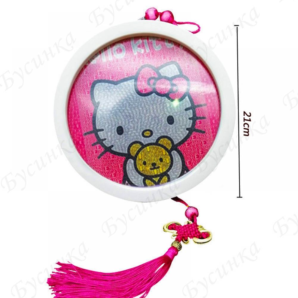 Набор-аппликация стразами для детского творчества, Hello Kitty, 21х21см.
