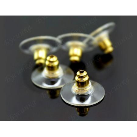 Заглушки Латунь комбинированные 12х7мм, Золото