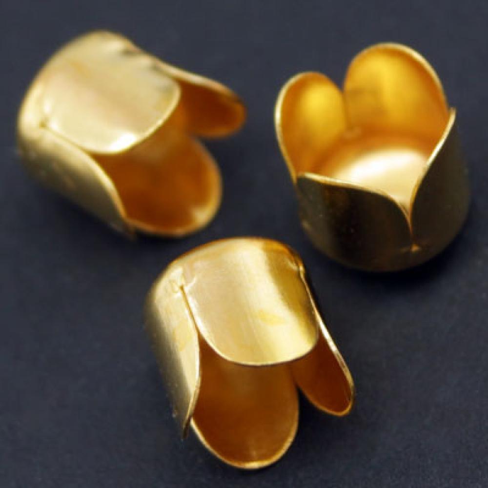 Конус Шапочки (IN-E015) 6.5х7мм, Золото